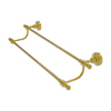 Allied Brass Retro-Wave Polished Brass Double Towel Bar (Common: 24-in; Actual: 26.8-in)