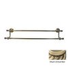 Allied Brass Retro-Wave Antique Brass Double Towel Bar (Common: 30-in; Actual: 32.8-in)