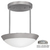 Access Lighting 15-in W Cobalt Brushed Steel Pendant Light