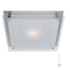 Access Lighting 9-1/2-in W Vision 1-Light Brushed Steel Pocket Wall Sconce