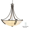 PLC Lighting 30-in W Highland Oil-Rubbed Bronze Pendant Light with Marbleized Shade