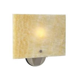 PLC Lighting Allur 11.5-in W 1-Light Satin Nickel Pocket Hardwired Wall Sconce
