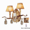 Classic Lighting 17-in W Morning Dew 2-Light Natural Bronze Arm Wall Sconce