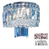 Classic Lighting 10-in W Ambassador 2-Light Chrome Crystal Pocket Wall Sconce