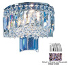 Classic Lighting 10-in W Ambassador 1-Light Chrome Crystal Pocket Wall Sconce