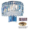 Classic Lighting 10-in W Ambassador 1-Light 24K Gold Plate Crystal Pocket Wall Sconce