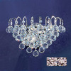 Classic Lighting 12-in W Diamante 2-Light Chrome Crystal Arm Wall Sconce