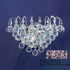 Classic Lighting 12-in W Diamante 1-Light Chrome Crystal Pocket Wall Sconce