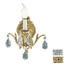 Classic Lighting 7-in W Barcelona 1-Light Olde-World Bronze Crystal Arm Wall Sconce