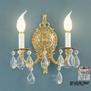 Classic Lighting 10-in W Barcelona 2-Light Millennium Silver Crystal Arm Wall Sconce