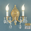 Classic Lighting 10-in W Barcelona 2-Light Olde-World Bronze Crystal Arm Wall Sconce
