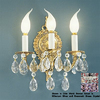 Classic Lighting 10-in W Barcelona 3-Light Millennium Silver Crystal Arm Wall Sconce