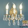 Classic Lighting 10-in W Barcelona 3-Light Olde-World Bronze Crystal Arm Wall Sconce
