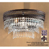 Classic Lighting 15-in W Renaissance 2-Light Matte Bronze Crystal Accent Pocket Wall Sconce