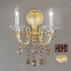 Classic Lighting 13-in W Via Veneto 2-Light Champagne Pearl Crystal Arm Wall Sconce