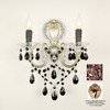 Classic Lighting 13-in W Via Veneto 2-Light 24K Gold Plate Crystal Arm Wall Sconce