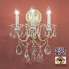 Classic Lighting 13-in W Via Veneto 3-Light 24K Gold Plate Crystal Arm Wall Sconce