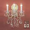 Classic Lighting 13-in W Via Veneto 3-Light Roman Bronze Crystal Arm Wall Sconce
