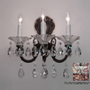Classic Lighting 13-in W Via Lombardi 3-Light Millennium Silver Crystal Arm Wall Sconce