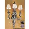 Classic Lighting 16-in W Majestic Imperial 3-Light Aged Bronze Arm Wall Sconce