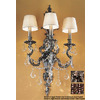 Classic Lighting 16-in W Majestic Imperial 3-Light Aged Bronze Crystal Accent Arm Wall Sconce