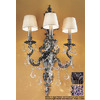 Classic Lighting 16-in W Majestic Imperial 3-Light Aged Pewter Arm Wall Sconce