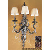 Classic Lighting 16-in W Majestic Imperial 3-Light Aged Pewter Crystal Accent Arm Wall Sconce