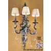 Classic Lighting Majestic Imperial 16-in W 3-Light French Gold Arm Hardwired Wall Sconce