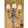 Classic Lighting 16-in W Majestic Imperial 3-Light French Gold Arm Wall Sconce