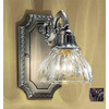 Classic Lighting 6-in W Majestic 1-Light Aged Pewter Crystal Arm Wall Sconce