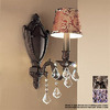 Classic Lighting 6-in W Chateau 1-Light Aged Bronze Crystal Accent Arm Wall Sconce