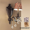 Classic Lighting 6-in W Chateau 1-Light French Gold Crystal Accent Arm Wall Sconce