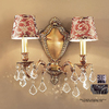 Classic Lighting 14-in W Chateau 2-Light Aged Pewter Crystal Arm Wall Sconce