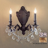 Classic Lighting 14-in W Chateau Imperial 2-Light French Gold Crystal Accent Arm Wall Sconce