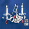 Classic Lighting 13-in W Aurora 2-Light Chrome Crystal Arm Wall Sconce