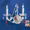 Classic Lighting 13-in W Aurora 2-Light Olde Gold Crystal Arm Wall Sconce