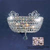 Classic Lighting 13-in W Crown Jewel 2-Light Gold Plated Crystal Pocket Wall Sconce