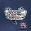 Classic Lighting 13-in W Crown Jewel 1-Light Gold Plated Crystal Pocket Wall Sconce