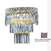 Classic Lighting 10-in W Sofia 1-Light Chrome Crystal Pocket Wall Sconce