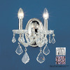 Classic Lighting 11-in W Maria Theresa 2-Light Chrome Crystal Arm Wall Sconce