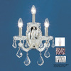 Classic Lighting 12-in W Maria Theresa 3-Light Chrome Crystal Arm Wall Sconce