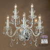 Classic Lighting 20-in W Bohemia Chrome Crystal Arm Wall Sconce
