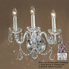 Classic Lighting 15-in W Bohemia 3-Light Chrome Crystal Arm Wall Sconce