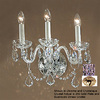 Classic Lighting 15-in W Bohemia 3-Light 24K Gold Plate Crystal Arm Wall Sconce