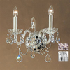 Classic Lighting 13-in W Bohemia 2-Light Chrome Crystal Arm Wall Sconce