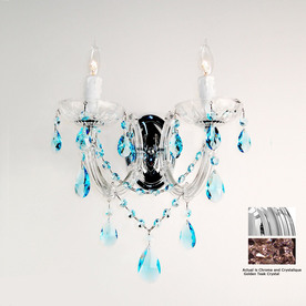 Classic Lighting 10-in W Rialto 2-Light Chrome Crystal Arm Wall Sconce