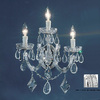 Classic Lighting 10-in W Rialto 3-Light Chrome Crystal Arm Wall Sconce