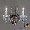 Classic Lighting 13-in W Daniele 2-Light Gold Plated Crystal Arm Wall Sconce