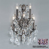 Classic Lighting 13-in W Versailles Antique Bronze Crystal Arm Wall Sconce