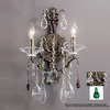 Classic Lighting 12-in W Garden of Versailles 2-Light Antique Bronze Crystal Arm Wall Sconce
